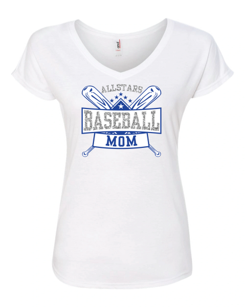 All-Star Baseball Mom V-Neck