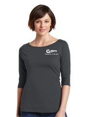 Caribbean Pools 3/4 Sleeve Tee - Charcoal