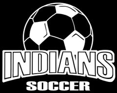Indians Soccer Window Decal