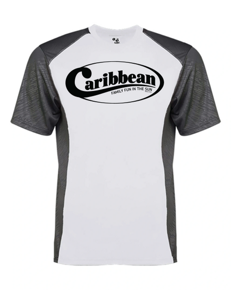 Caribbean Pools Line Embossed Color Block T-shirt