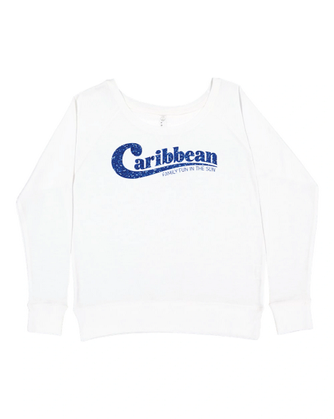 Caribbean Pools Slouchy French Terry Pullover