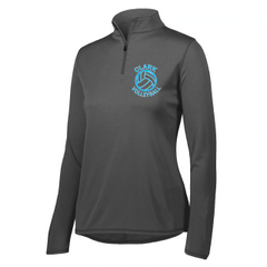 Clark Volleyball Womens/Youth Performance Quarter-Zip Pullover Embroidered 2019