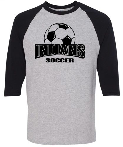 Indians Soccer Three Quarter Shirt