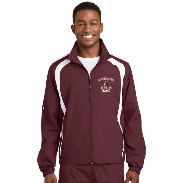 Hanover Central Bowling Embroidered Raglan Jacket