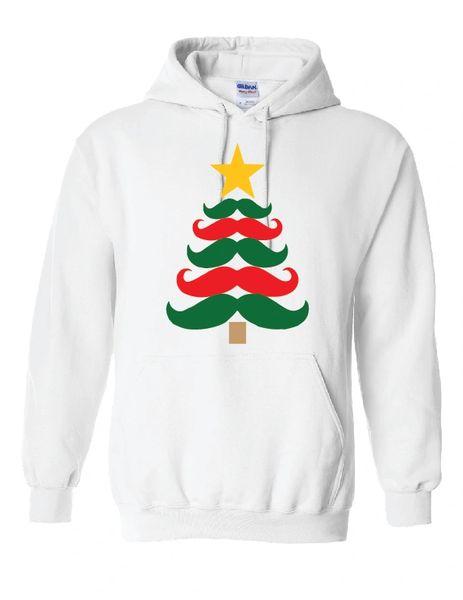 Christmas Mustache Tree Hoodie