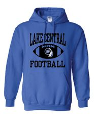 Lake Central Football Logo Hoodie