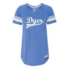 Dyer Girls Softball Champion - Women's Originals Triblend Varsity Tee