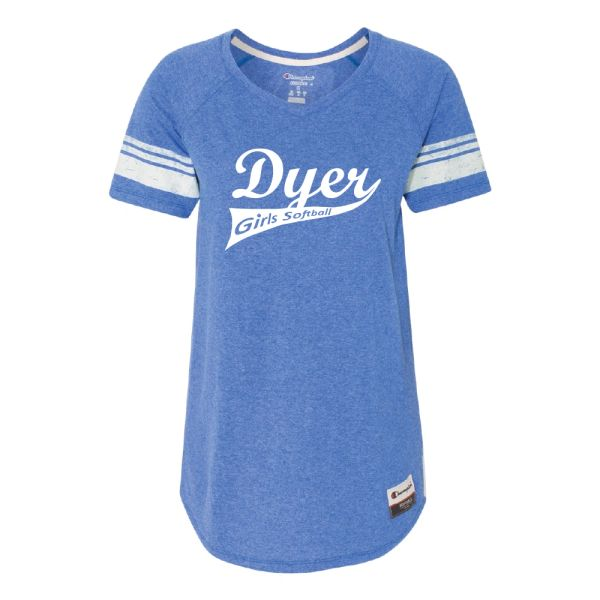 Dyer Girls Softball Champion - Women's Originals Triblend Varsity Tee