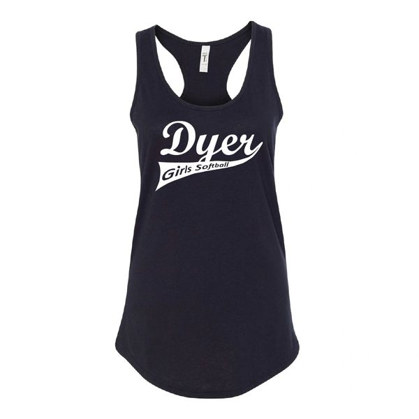 Dyer Girls Softball Women's Ideal Racerback Tank