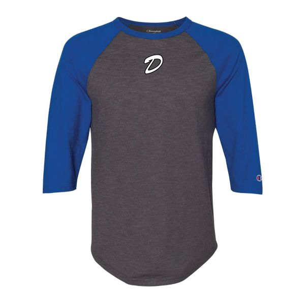 DLL Champion Raglan 3/4 Sleeve Baseball T-Shirt