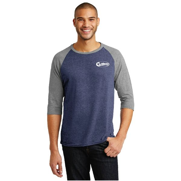 Caribbean Pools Tri-Blend 3/4-Sleeve Raglan Tee