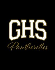 Griffith Pantherettes 5in x 4in Gold and White Decal