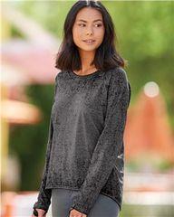 J. America - Women's Zen Jersey Hi-Low Long Sleeve T-Shirt
