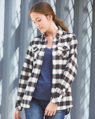 Women's Yarn-Dyed Long Sleeve Flannel Shirt