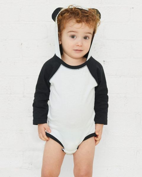 Fine Jersey Infant Character Hooded Long Sleeve Bodysuit with Ears