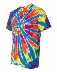 Short Sleeve Rainbow Cut-Spiral T-Shirt