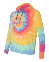 Tie Dye Hooded Pullover T-Shirt