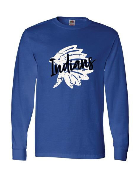 Lake Central Indians Distressed Long Sleeves
