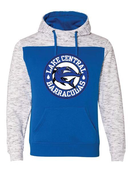 Barracudas Mélange Fleece Colorblocked Hooded Sweatshirt