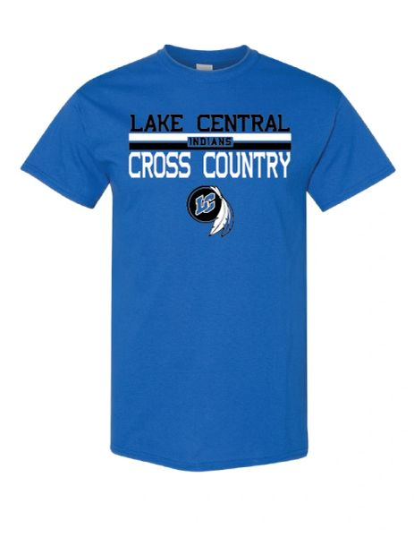 Lake Central Cross Country Fundraiser Royal T-shirt 2020