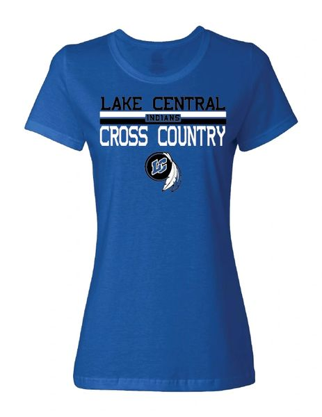 Lake Central Cross Country Women's Royal T-Shirt 2020