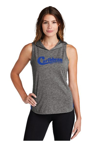 Caribbean Pools Ladies PosiCharge ® Tri-Blend Wicking Draft Hoodie Tank