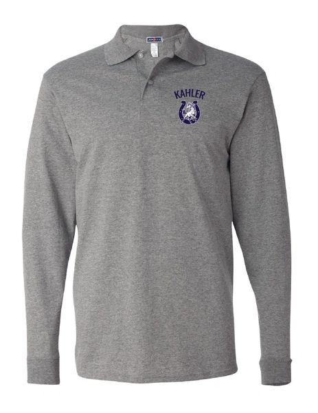 Embroidered Kahler SpotShield™ 50/50 Long Sleeve Sport Shirt