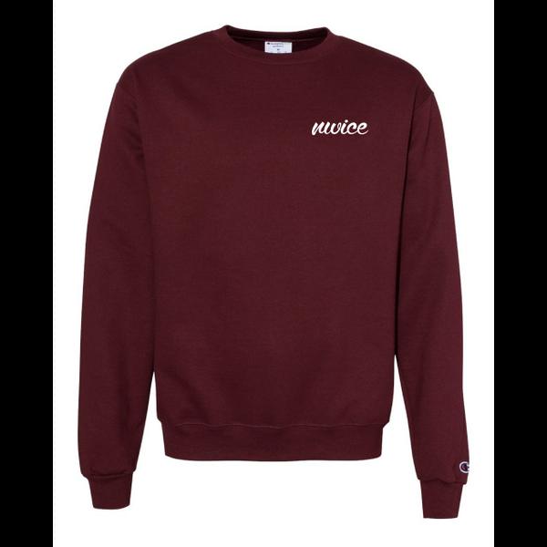 NWICE Cursive Champion Crewneck Sweatshirt