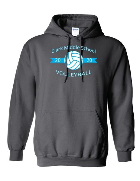 Clark Volleyball Hooded Sweatshirt
