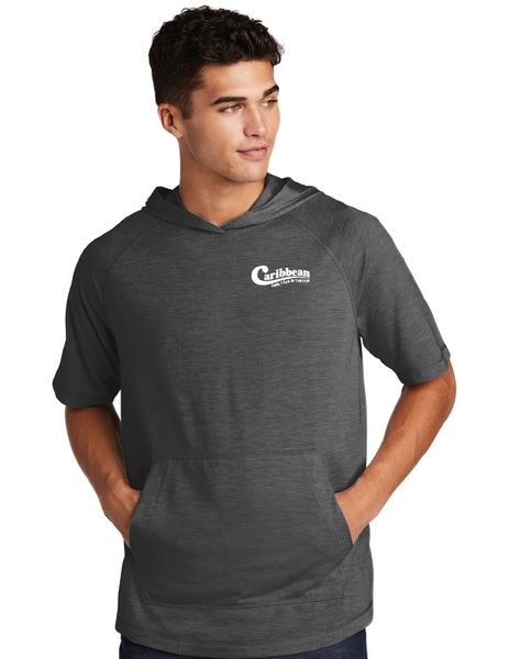 Caribbean Pools Tri-Blend Wicking Short Sleeve Hoodie