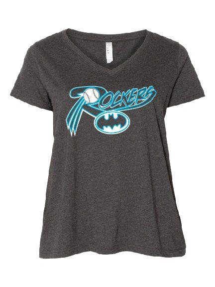 Rockers Curvy Collection Women's Premium Jersey V-Neck Tee