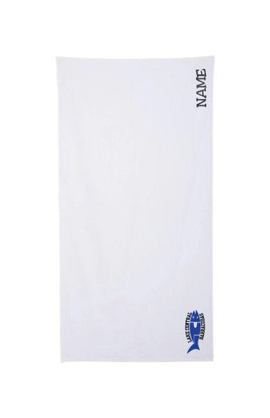 Barracudas Embroidered Beach Towel
