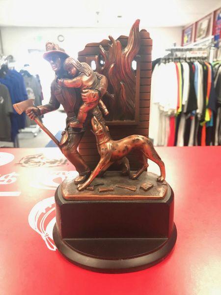 Bronze Firefighter Trophy Plaque