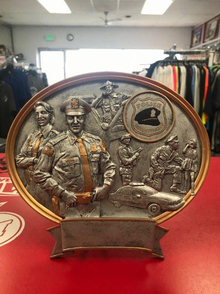 Police Department Trophy Plaque