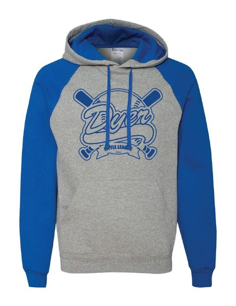 DLL Colorblocked Raglan Hooded Sweatshirt