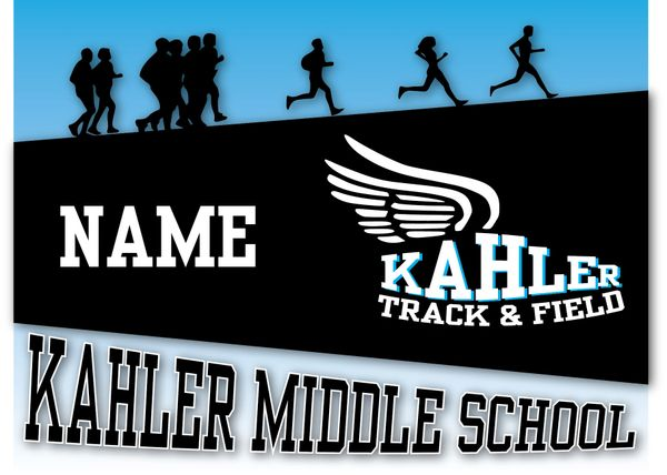Kahler Track & Field Yard Sign