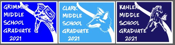 Middle School Graduate Yard Sign
