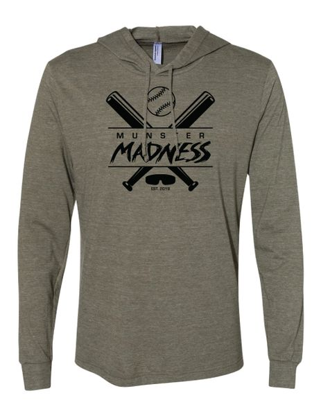 Munster Madness Triblend Long Sleeve Hooded Tee