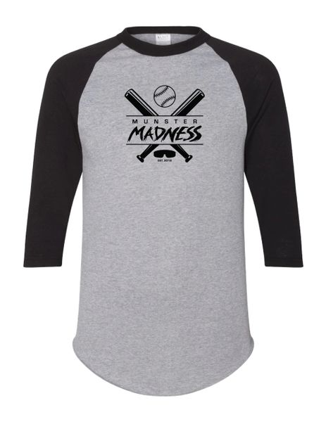 Munster Madness Three-Quarter Sleeve Baseball Jersey