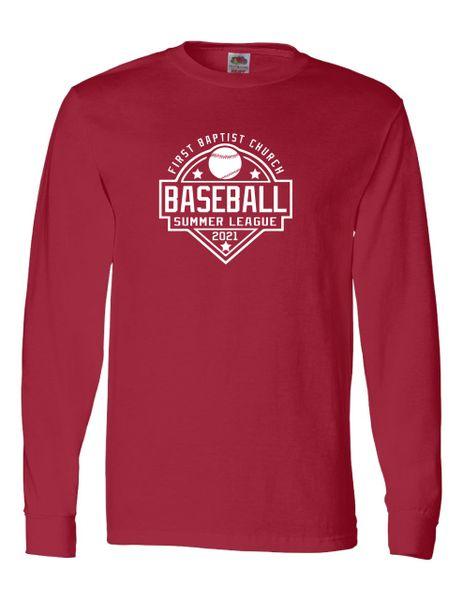 First Baptist Baseball League Team Long Sleeves