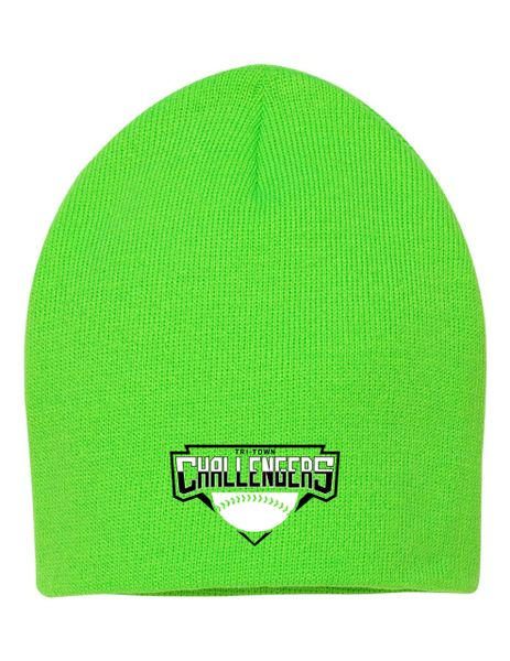"""Embroidered Tri-Town Challengers 8"""" Knit Beanie"""