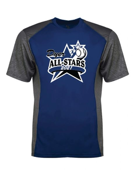 Dyer All-Star 2021 Line Embossed Colorblock T-Shirt