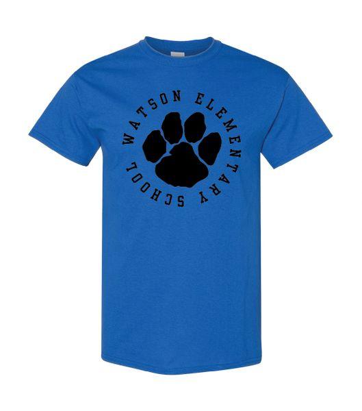Watson Wildcats Paw Circle T-Shirt