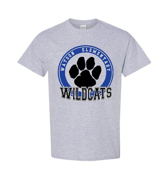 Watson Wildcats Circle Paw T-Shirt