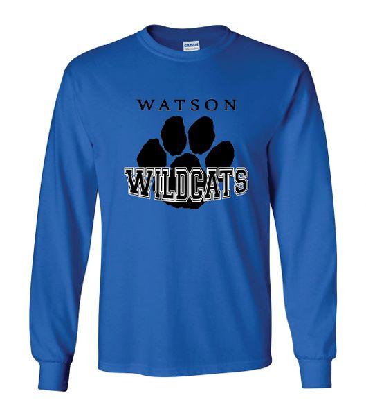 Watson Wildcats Paw Long Sleeves