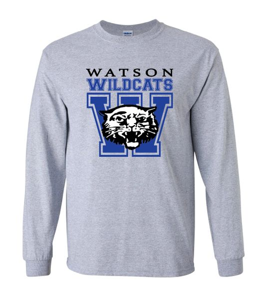 Watson Wildcats W Sport Grey Long Sleeves