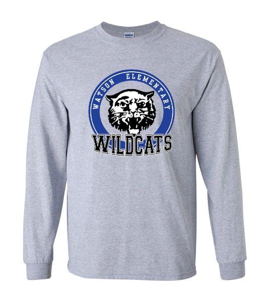 Watson Wildcats Circle Sport Grey Long Sleeves