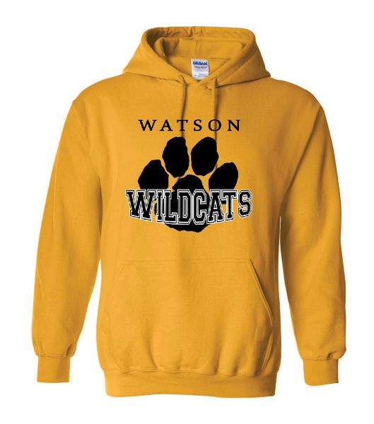 Watson Wildcats Paw Hoodie