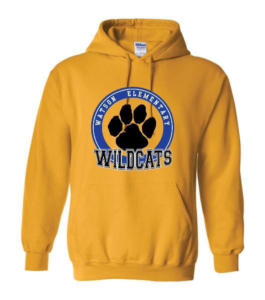 Watson Wildcats 3 Color Paw Circle Hoodie