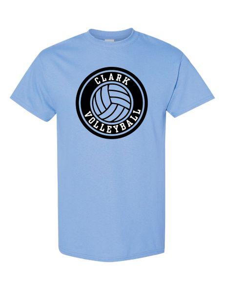 Clark Volleyball T-Shirt Circle Design